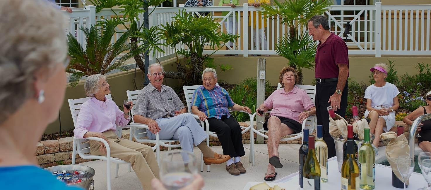 Seniors and wine