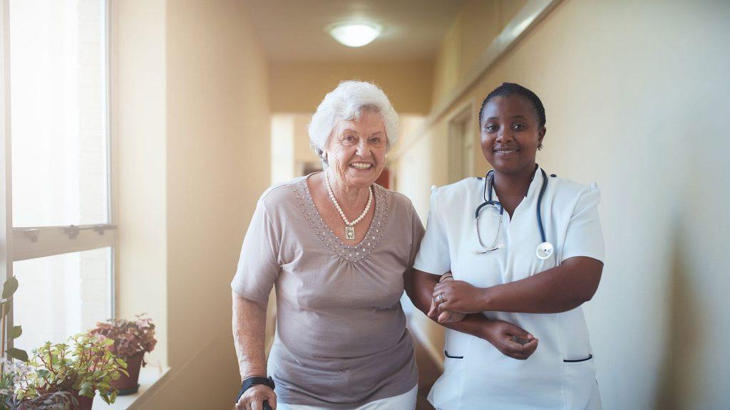 woman receiving memory care